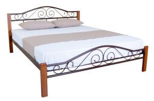 Кровать железная Элис Люкс Вуд Melbi