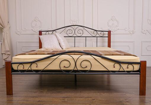 металлическая кровать Элис Люкс Вуд Melbi недорого