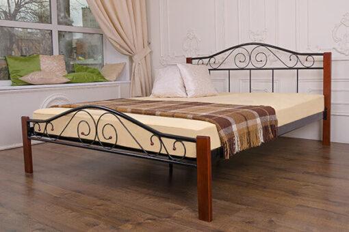 купить кровать металлическая Элис Люкс Вуд Melbi