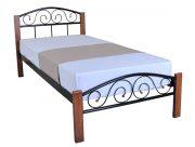 металлическая кровать Кровать Элис Люкс Вуд Melbi односпальная