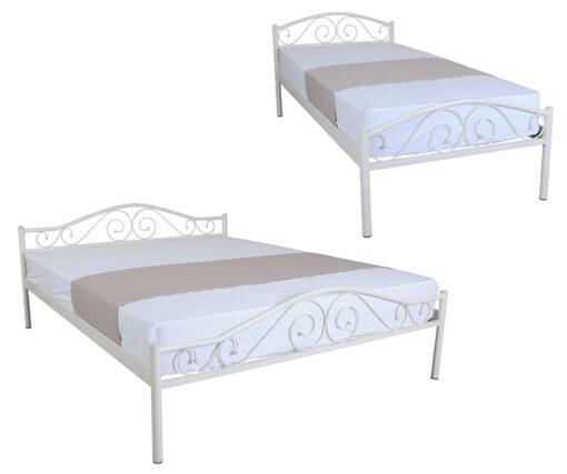 металлическая кровать Элис Люкс белая Melbi