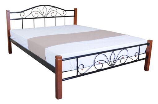металлическая кровать Лара Люкс Вуд Melbi цена