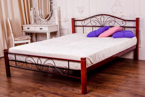 железная кровать Лара Люкс Вуд Melbi