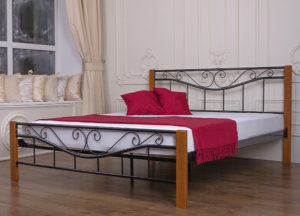 Кровать-Эмили-металлическая-Melbi-в-интерьере