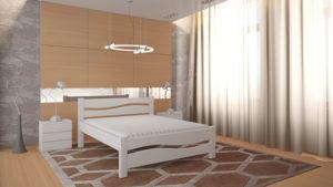 Кровать Волна белая
