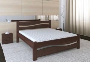 Деревянная кровать Волна Мекано