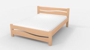 Кровать Волна светлый орех