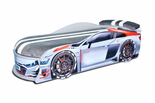 Кровать-машина-Audi-Turbo-серая