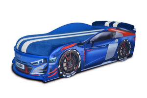 Кровать-машина-Audi-Turbo-синяя