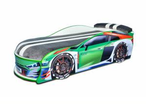 Кровать-машина-Audi-Turbo-зеленая