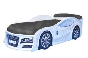 Кровать-машина-Audi-белая