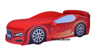 Кровать-машина-Audi-красная