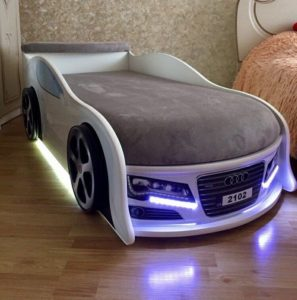 Кровать машина Audi реальное фото