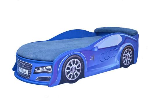 Кровать-машина-Audi-синяя