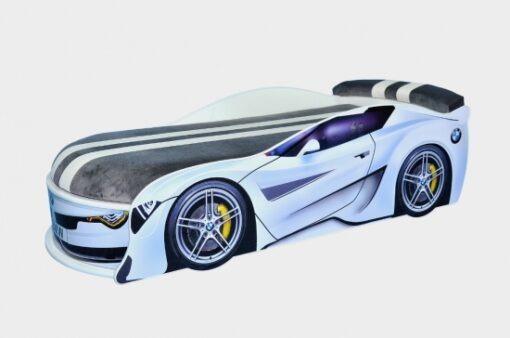 Кровать-машина-BMW-Turbo-белая