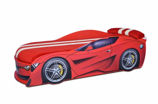 Кровать-машина-BMW-Turbo-красная