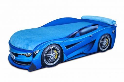 Кровать-машина-BMW-Turbo-синяя