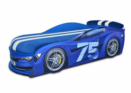 Кровать-машина-BMW-Turbo-синяя-75
