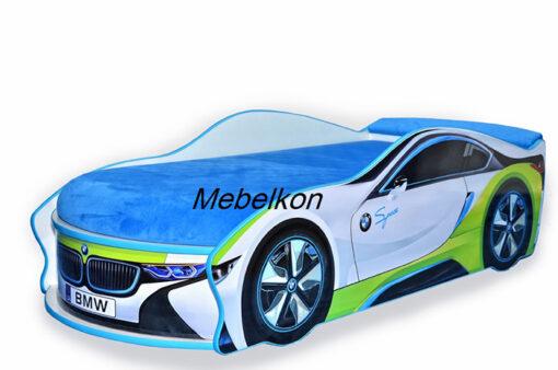 Кровать-машина-BMW-белая