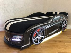 Кровать-машина-BMW-черная-реальное-фото