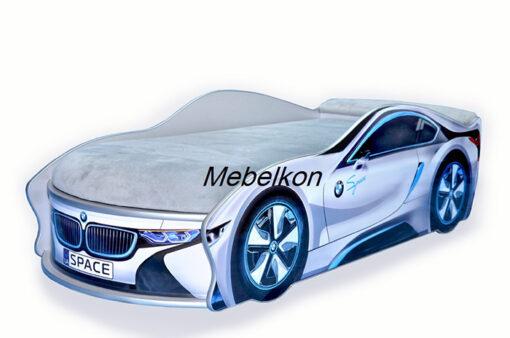 Кровать-машина-BMW-серая