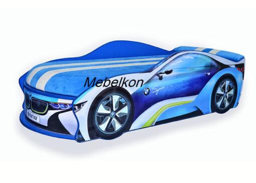 Кровать-машина-BMW-синий-круиз