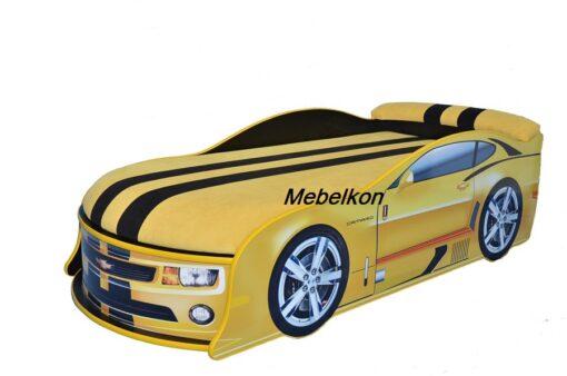 Кровать машина Camaro желтая