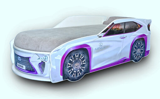 Кровать-машина-Джип-белый-Lexus