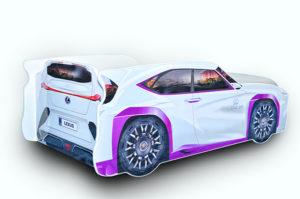 Кровать-машина-Джип-белый-Lexus-вид-сзади