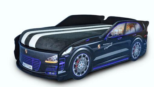 Кровать-машина-Джип-черный-Porsche