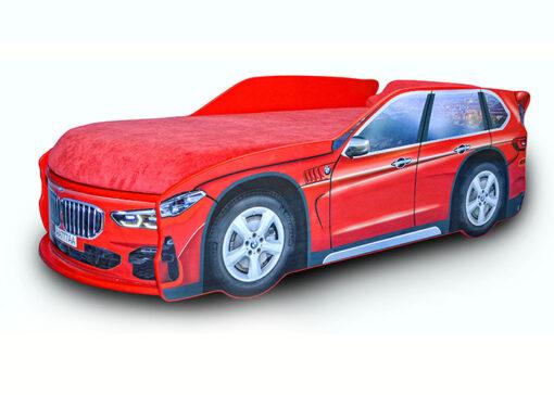 Кровать-машина-Джип-красный-BMW-X5