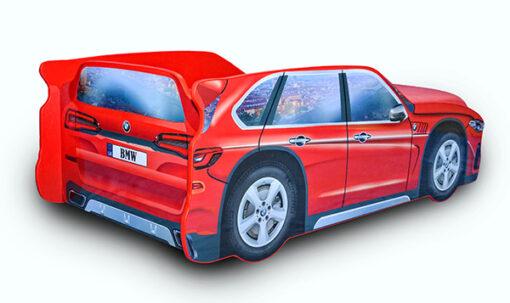 Кровать-машина-Джип-красный-BMW-X5-вид-сзади