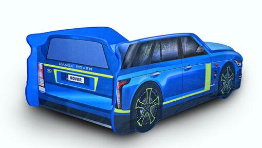 Кровать-машина-Джип-синяя-Range-Rover-вид-сзади