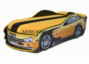 Кровать-машина-Mercedes-желтая