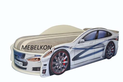 Кровать-машина-Tesla-белая