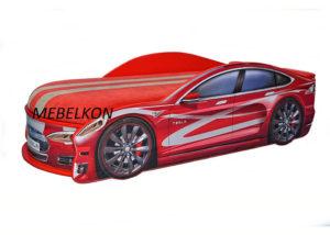 Кровать-машина-Tesla-красная