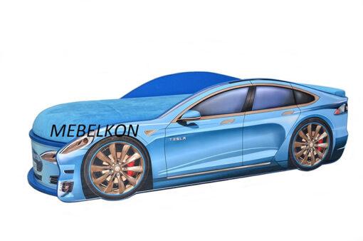 Кровать-машина-Tesla-синяя