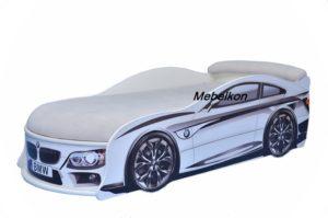 Кровать машинка BMW белая