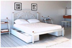 Кровать Скарлет белая Металл-Дизайн