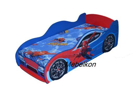 Кровать машина Спайдермен фото