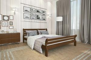 Деревянная кровать Аркадия Мекано