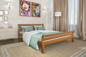 Деревянная-кровать-Аркадия-Мекано-светлый-орех