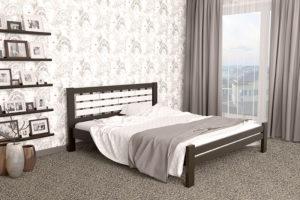 Деревянная кровать Гастия Мекано