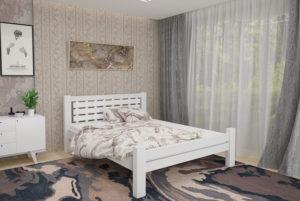 Деревянная-кровать-Гастия-Мекано-белая