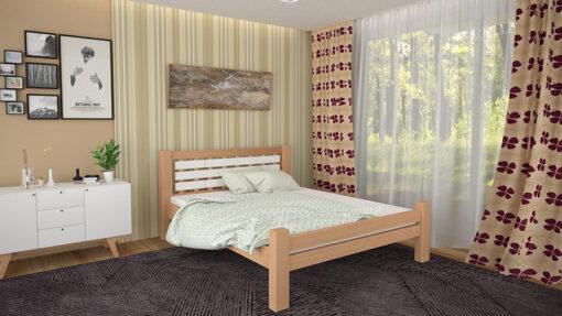 Деревянная-кровать-Гастия-Мекано-светлый-орех