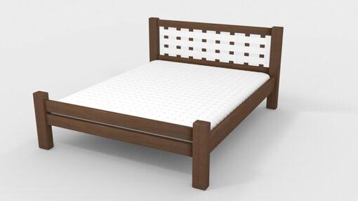 Деревянная-кровать-Гастия-Мекано-темный-орех