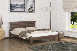 Деревянная кровать Гефест Мекано темный орех