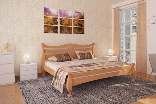 Кровать Кронос светлый орех