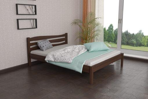 Деревянная кровать Посейдон Мекано темный орех
