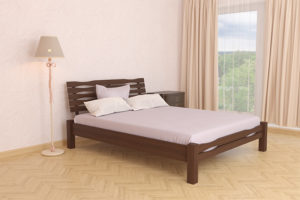 Деревянная-кровать-Веста-Мекано-темный-орех
